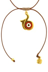 necklace with gold-plated 16