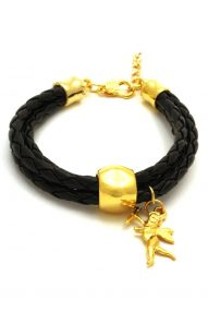 leather bracelet with eros