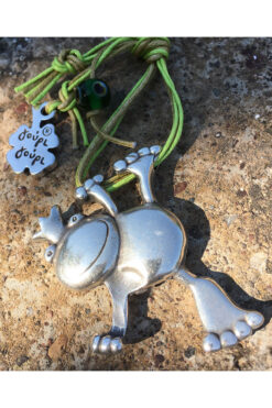 keyring with frog & evil eye