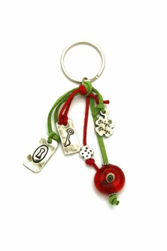 keyring with key and lock