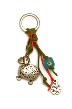keyring with sheep