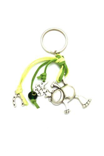 keyring with frog & horseshoe