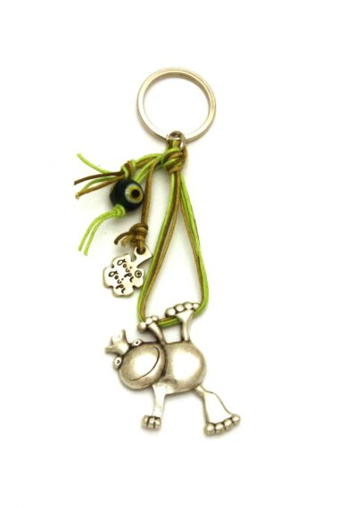 keyring with frog & evil eye