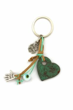 keyring with heart