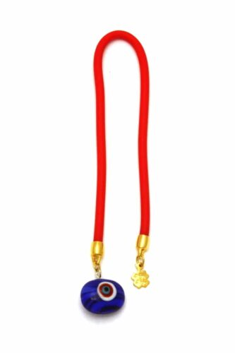 blue lucky eye bead bookmark