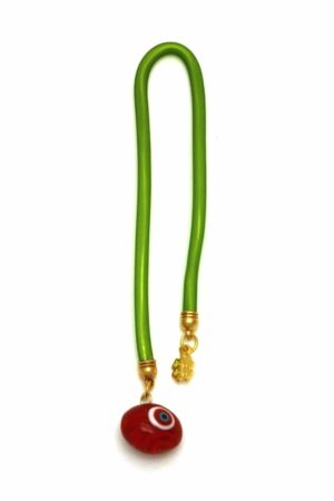 red lucky eye bead bookmark