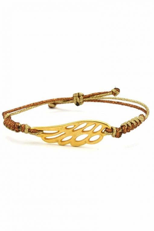 gold-plated angel wing bracelet