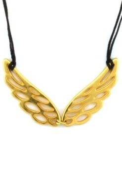 necklace with gold-plated pair of wings