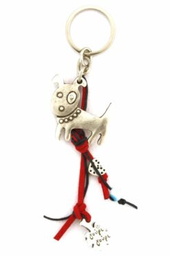 keyring with cute dog
