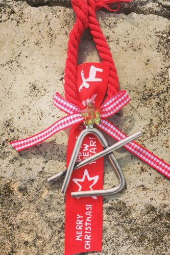 Christmas charm with triangle