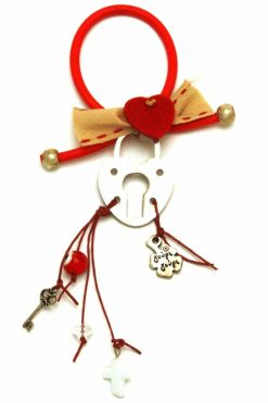 Christmas charm with heart