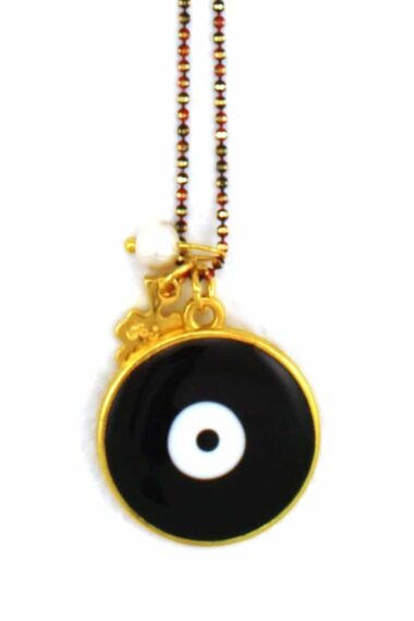 necklace with black evil eye