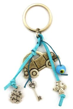 car keyring with evil eye