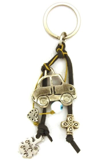 keyring for car keys with evil eye