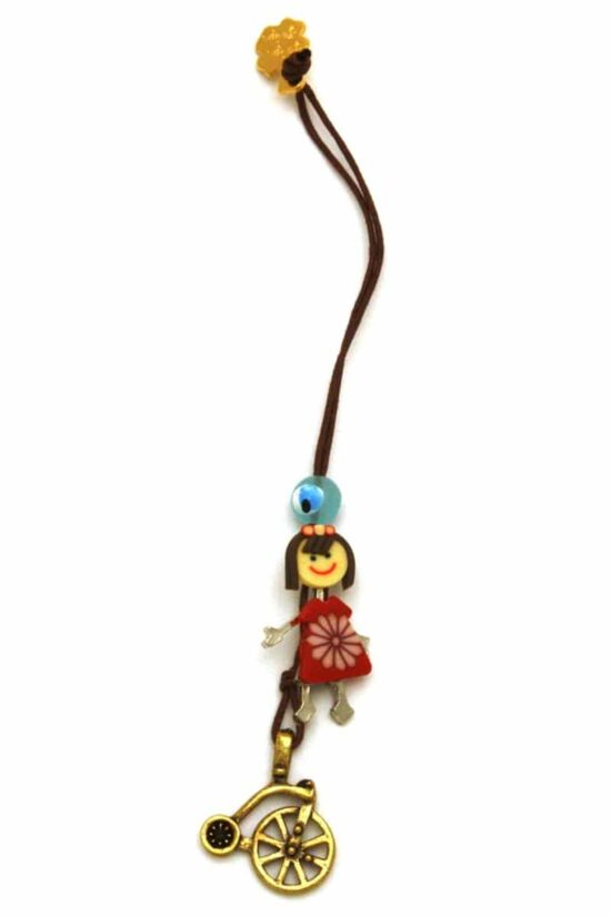 girls' good luck charm for bicycles