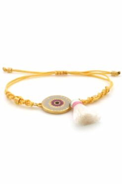 yellow evil eye bracelet