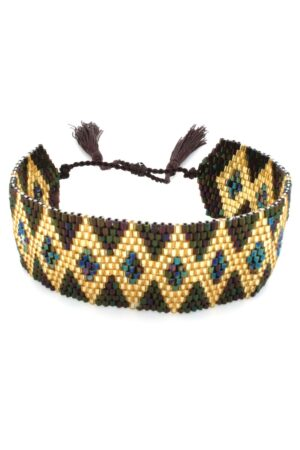 brown wide band bracelet