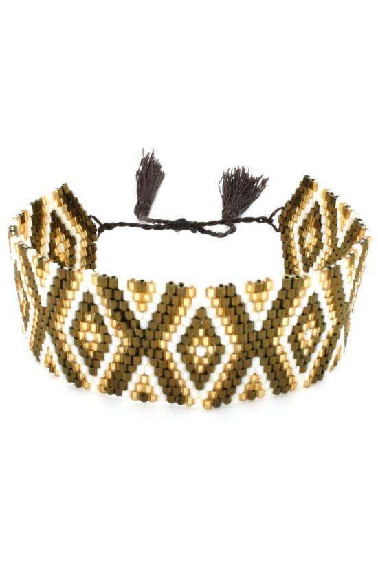 light brown wide band bracelet