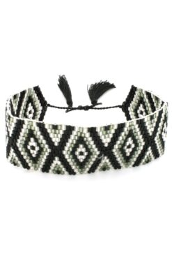 black wide band bracelet