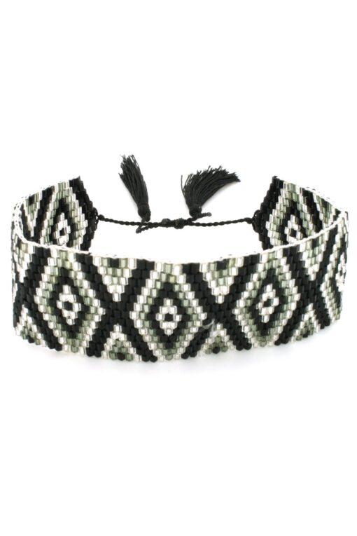 black wide band bracelet