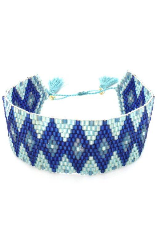 light blue wide band bracelet