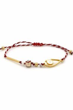 march bracelet with evil eyes
