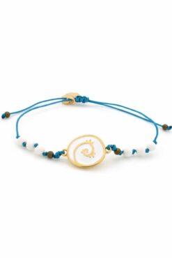 blue bracelet with spiral