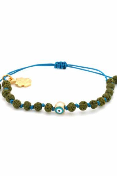 green lava rock bracelet