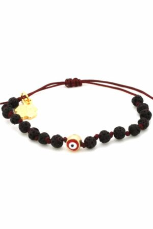 black lava stone bracelet