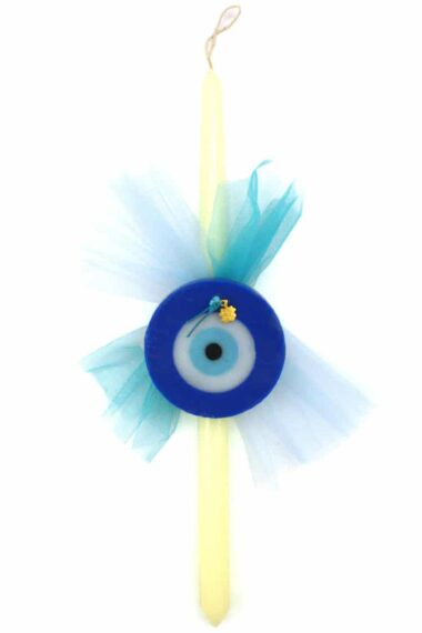 Easter candle with blue evil eye soap