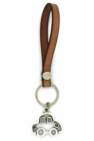 minimal leather keyring for car keys