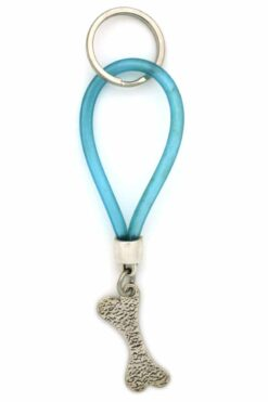 caoutchouc keyring with bone