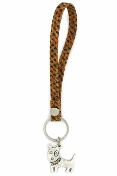 cork loop keyring with dog