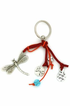 red dragonfly keyring