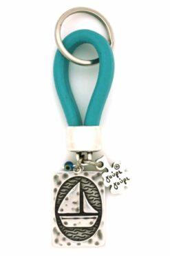 leather keyring for boat keys