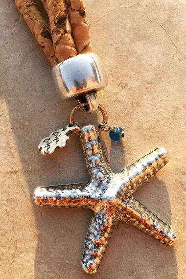 keyring with starfish