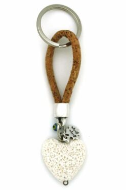 keyring with lightstone heart