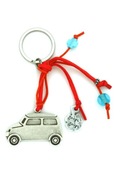 car keyring with evil eye and cross