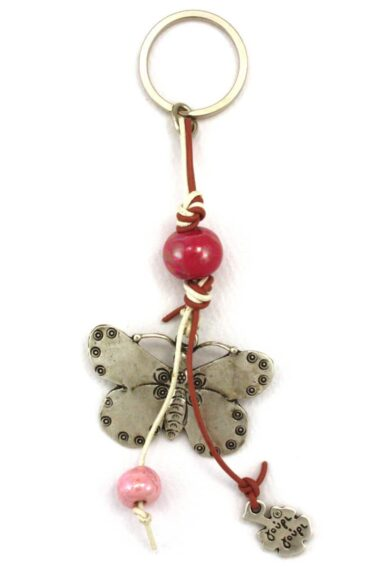 keyring with butterfly