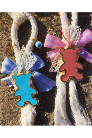charm for baby with teddy bear