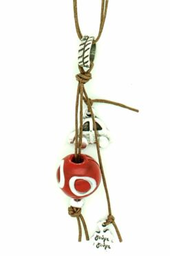 good luck car charm with red evil eye