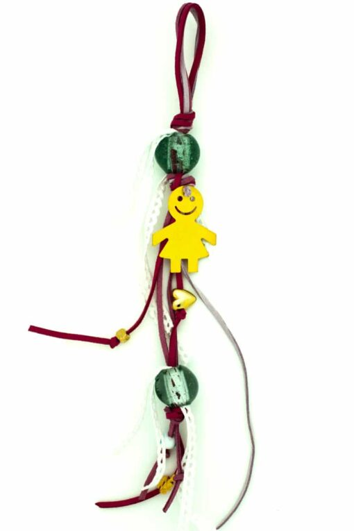 baby luck charm for girls with large beads