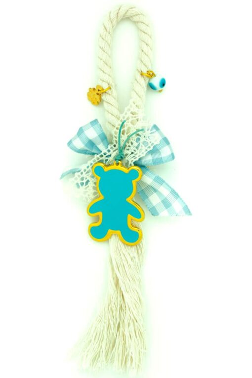 charm for baby boy with teddy bear