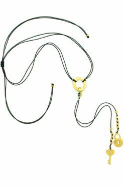 """black """"live-love-laugh"""" necklace"""