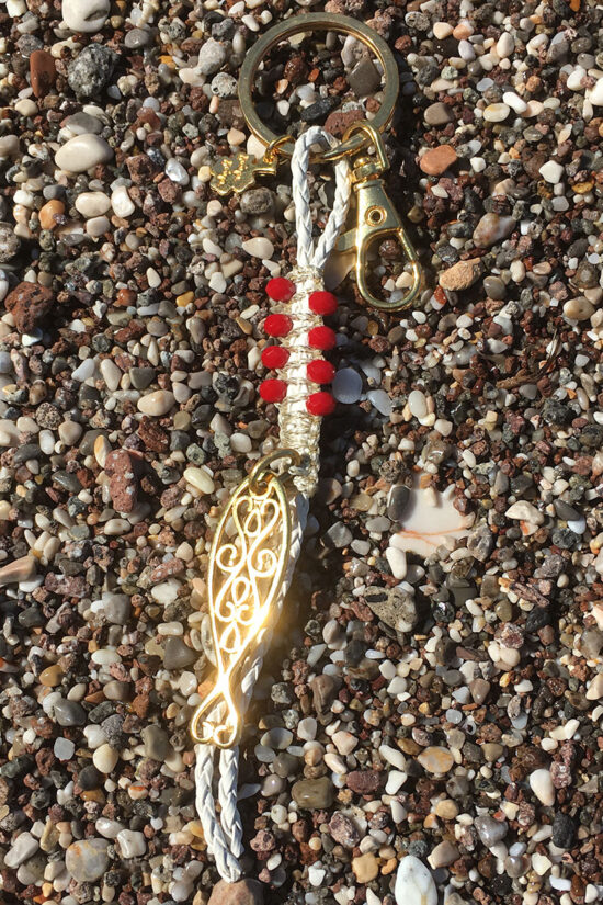 keyring with gold-plated fish