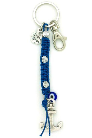 macrame keyring with anchor