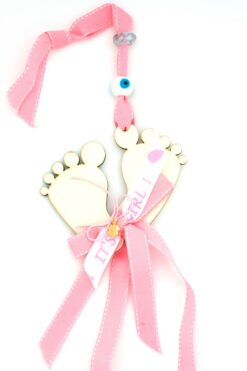 gift for newborn girls with baby feet