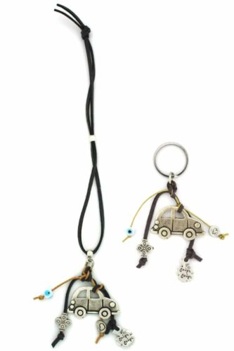 rear view mirror charm and keyring