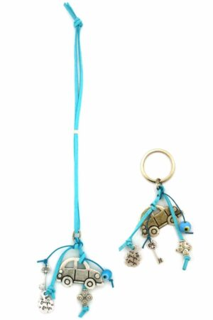 rearview mirror car charm and keyring combo