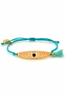 light-blue bracelet with leaf
